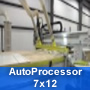 AutoProcessor 7×12 is a complete solution for Nested Based Panel Processing, Cabinet/Closets, Marine/Boat Building, Furniture Manufacturing, Exhibits/ Store Fixtures, Machining Plastic Sheets and High Volume Cabinet Production.
