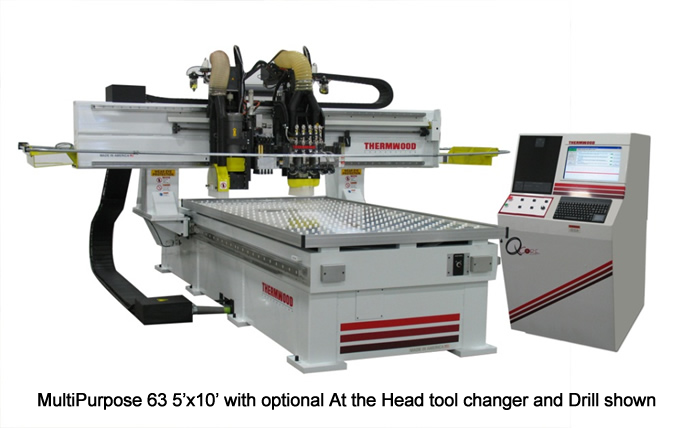 MultiPurpose 63 5'x10' with optional at the head automatic tool changer and drill shown