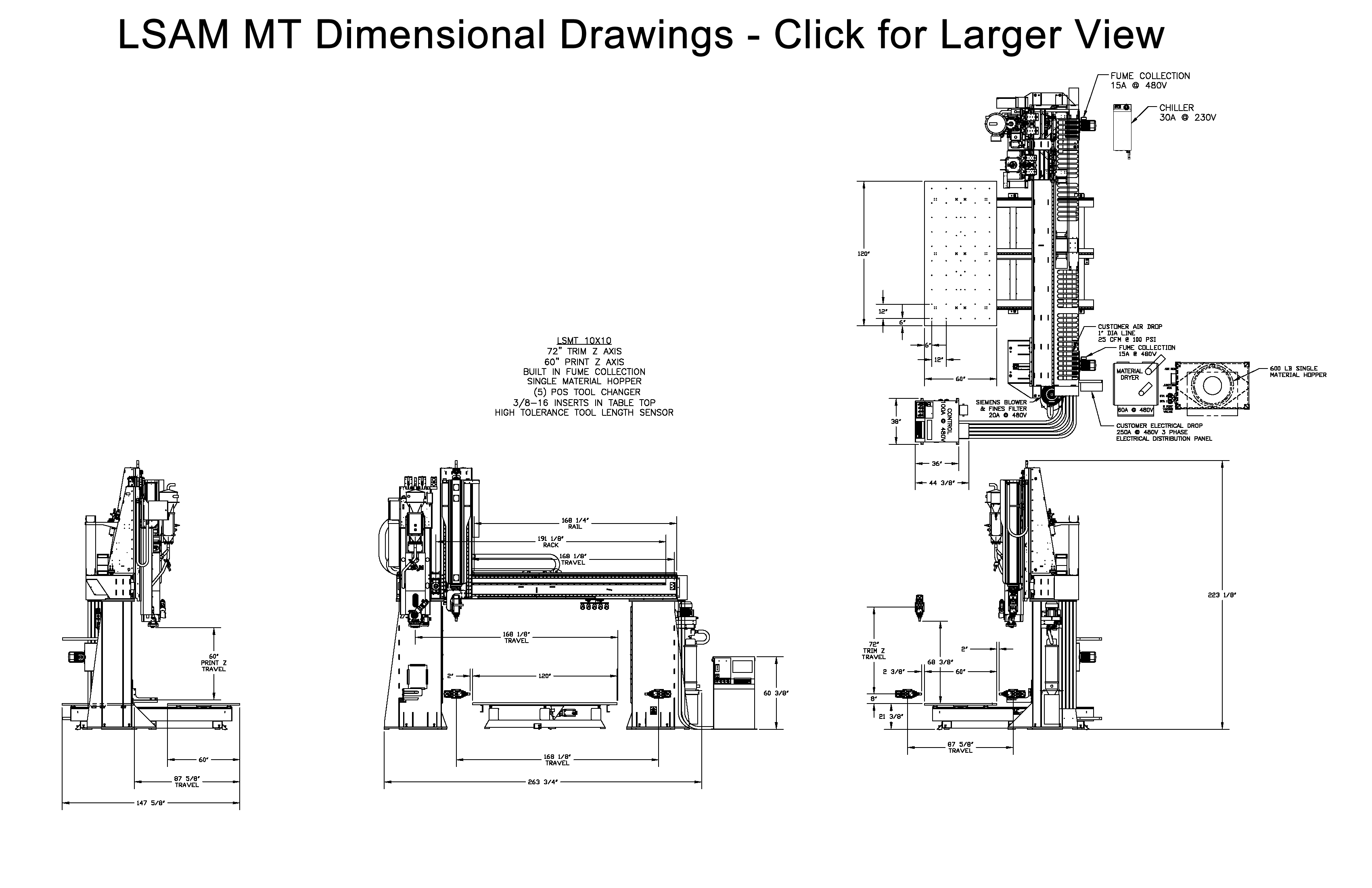 LSAM MT Dimensional Drawings Shown