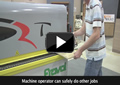 Machine operator can safely do other jobs