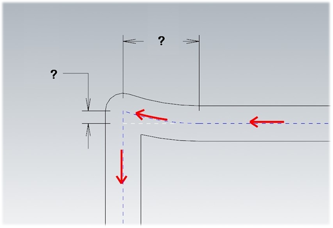 Corner pullback compensation works by creating a tangent arc motion moving towards the outside of the corner, starting back at the point where the wheel stops on the bead, and then travels outward by the amount that the bead gets drawn in when the wheel rolls back onto the bead.