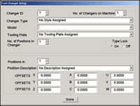 The QCore SuperControl has a tool management system used to define and manage tools. With the advent of automatic tool changers and random use of tools, this makes management of tooling easier and tracks tool use, informing the operator when tool life has expired for a particular tool. It can even automatically switch to a back-up tool when life expires.